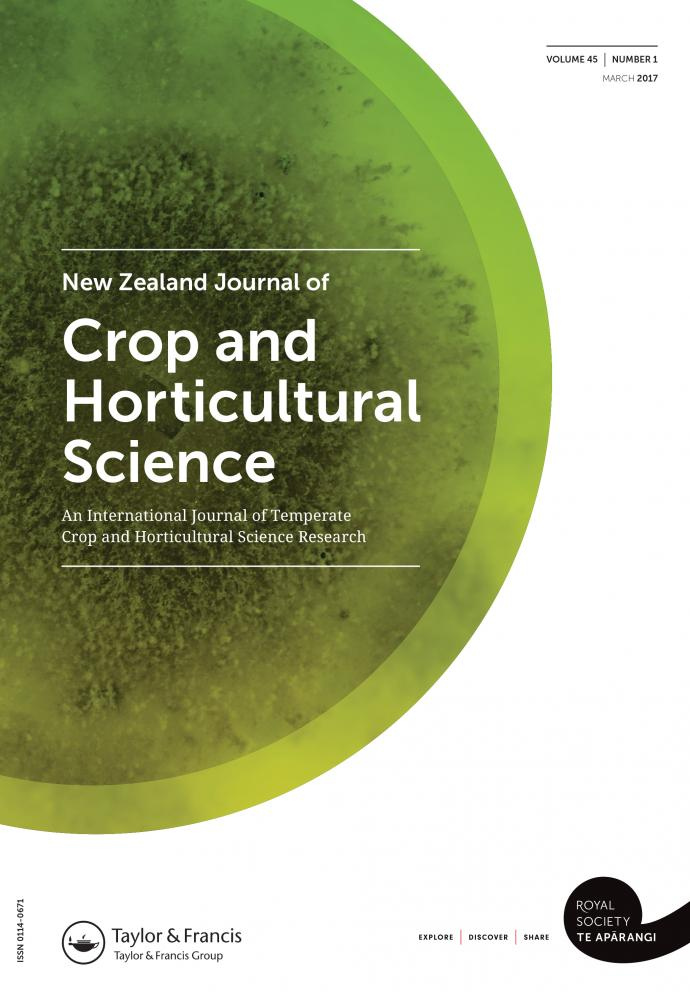 Cover Art for New Zealand Journal of Crop and Horticultural Science