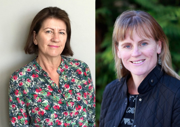 Associate Professor Barbara Galland (left) and professor Rachael Taylor (right), image supplied