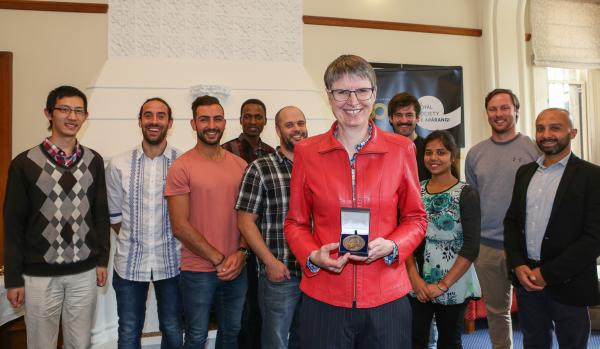 Professor Sally Brooker with most of her research team