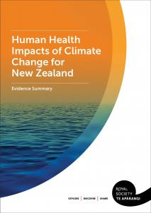 Cover Human Health Impacts of Climate Change for New Zealand