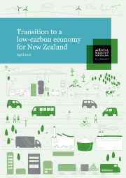 Cover full report Transition to Low Carbon Economy for NZ 180x255
