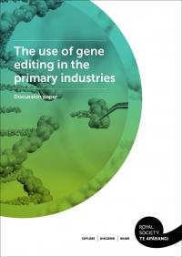 Cover the use of gene editing in primary industries discussion paper border