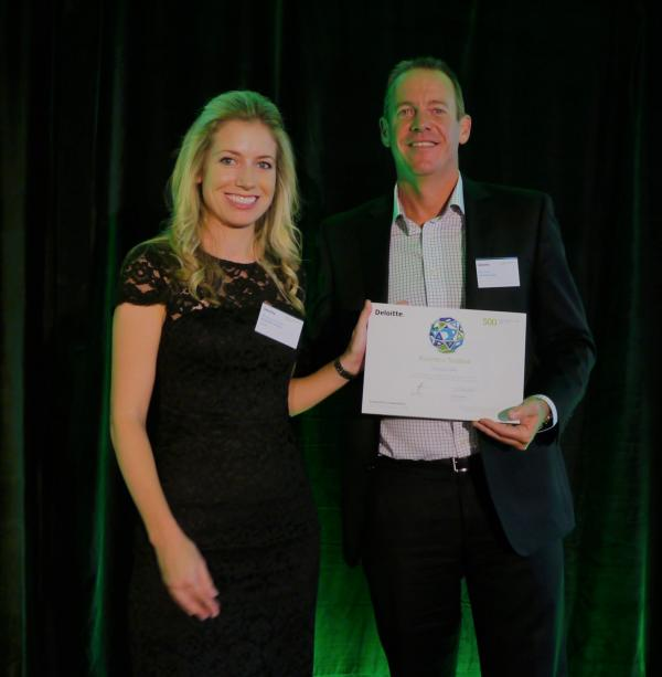 Receiving Deloitte Tech Fast 500 Award 2018