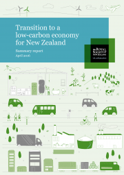 Summary cover Transition to Low Carbon Economy for NZ 180x255