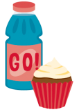 ill cupcake and sports drink 114x162
