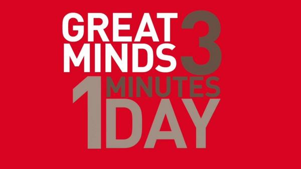 logo Great Minds 3 Minutes 1 Day